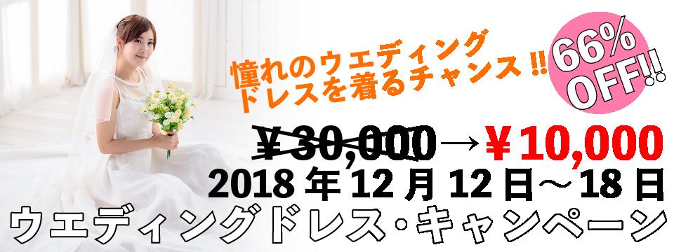<ウエディンドレス・キャンペーン(2018年12月12日~18日)>&#8220;></a></p> <p style=