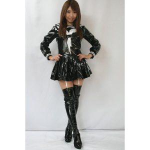 女王様エナメルセーラー 長袖 ブラック【M〜4Lサイズ】