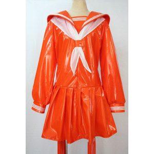女王様エナメルセーラー 長袖 オレンジ【M〜4Lサイズ】